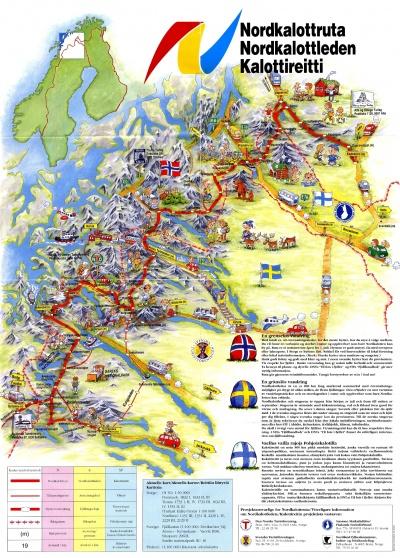 Die beste Nordkalottleden Karte
