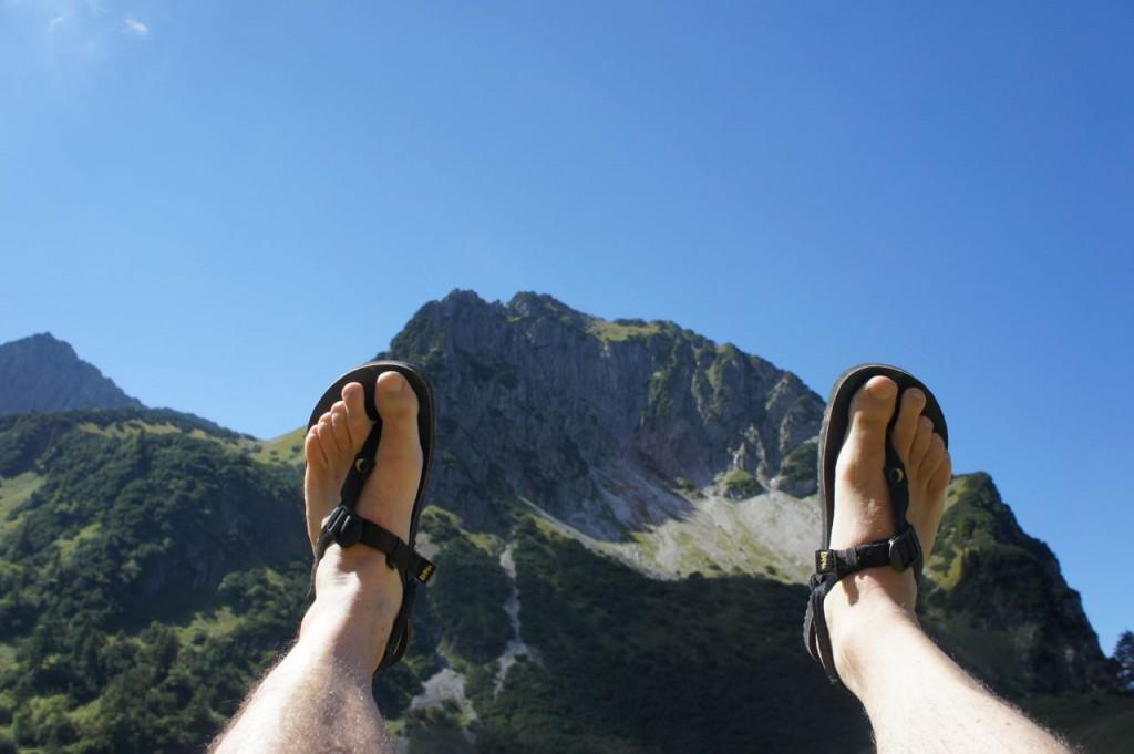Luna Sandals auf dem Weg zum Gipfel