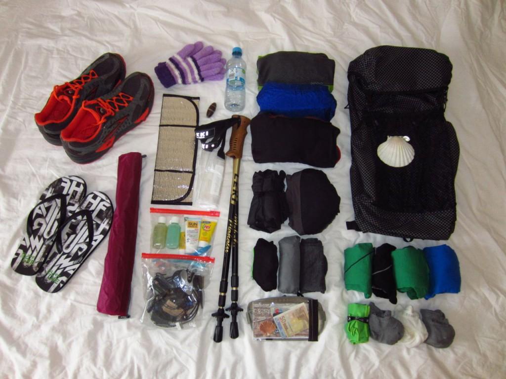 3kg Ausrüstung - Packliste für den Jakobsweg