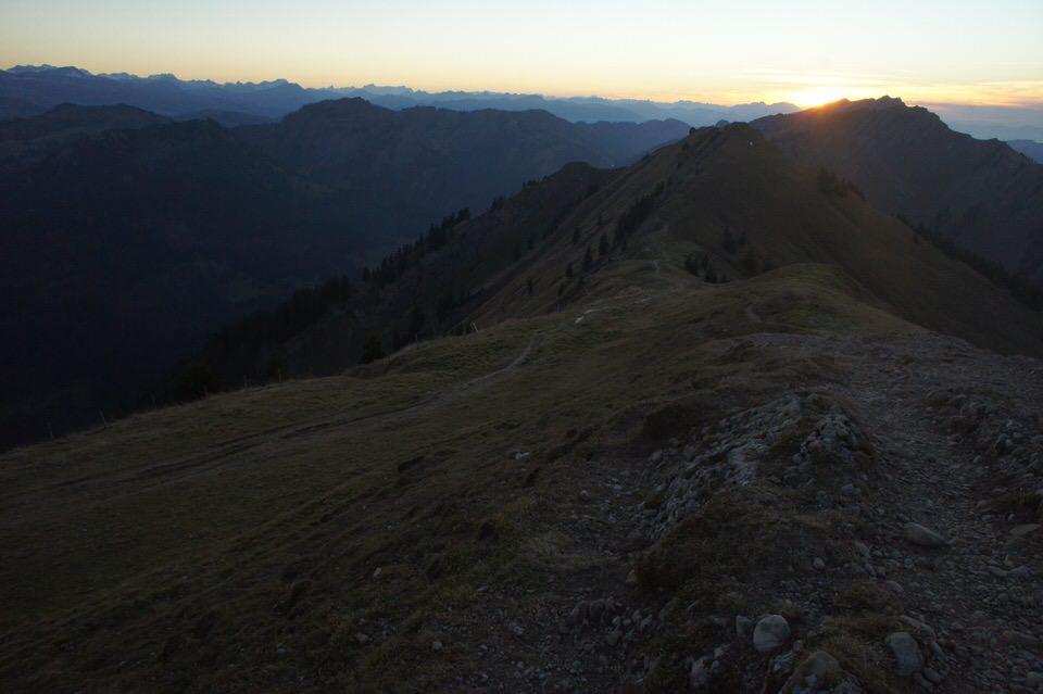 Sonnenuntergang Nagelfluhkette