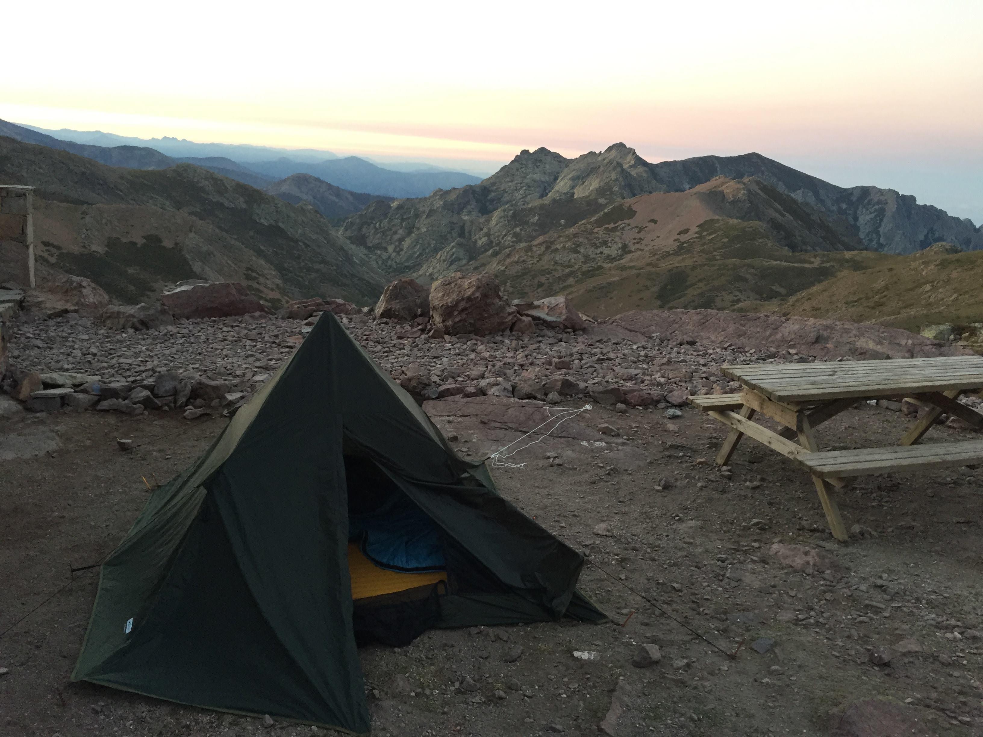 DD Pyramid Tent auf dem GR20 auf Korsika